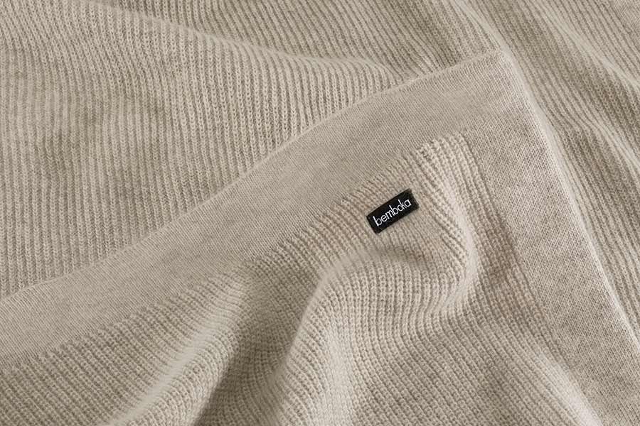 chain rib knit in wheat colour