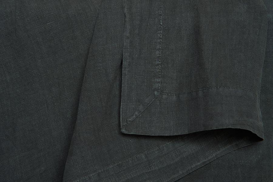 linen flat sheet in coal colour