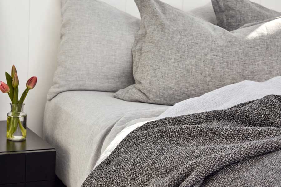 linen in dove and grey marl