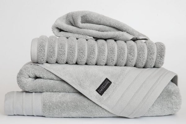 luxe towels in dove colour