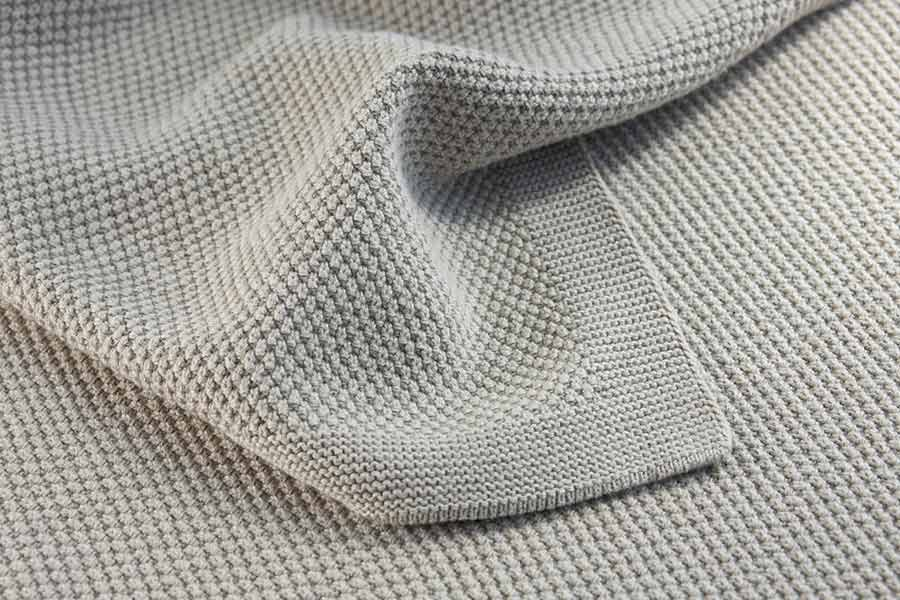 moss stitch knit in wheat colour