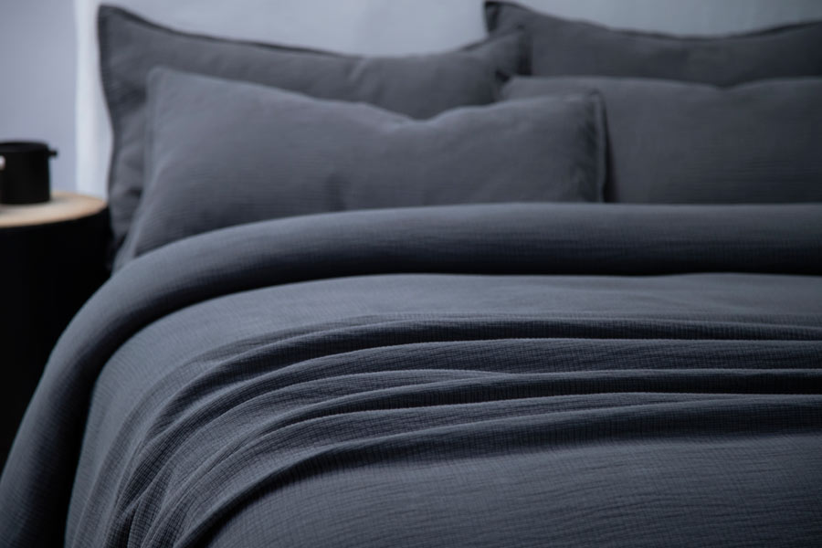 ripple duvet in charcoal colour