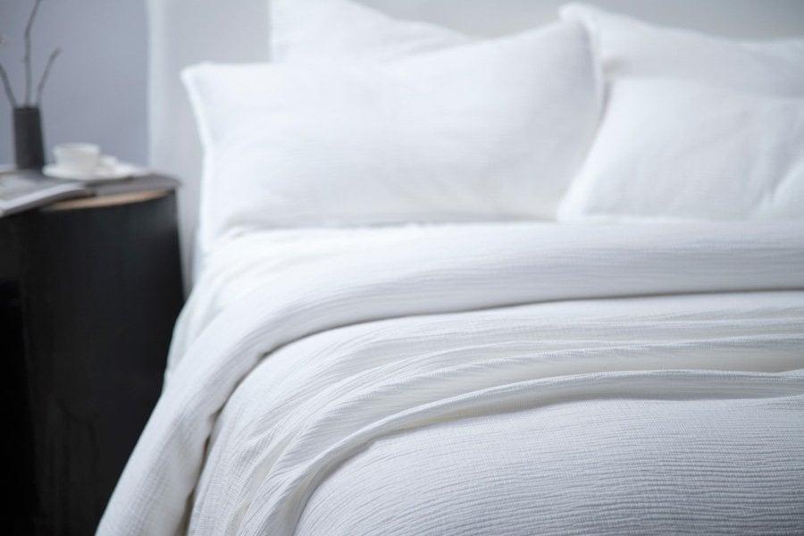 ripple duvet in white colour