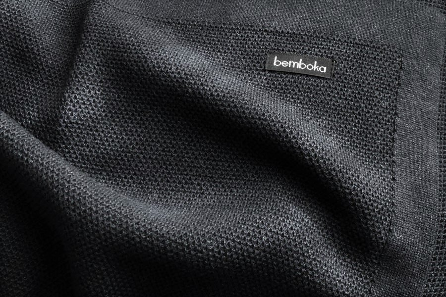 bamboo honeycomb design in charcoal colour