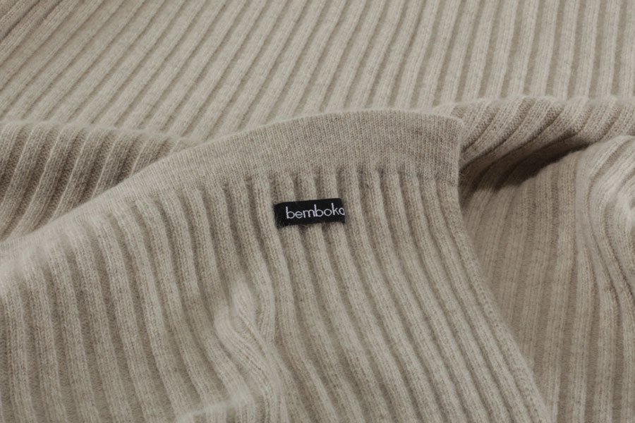 wide rib blanket | wheat colour