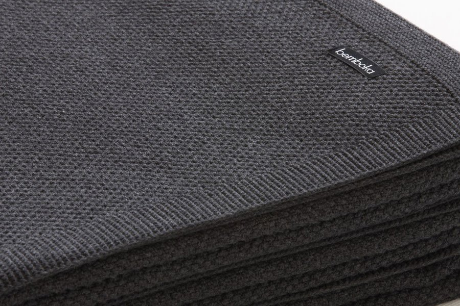 moss stitch knit in charcoal colour