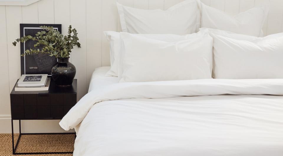 bemoka cotton sheets in white