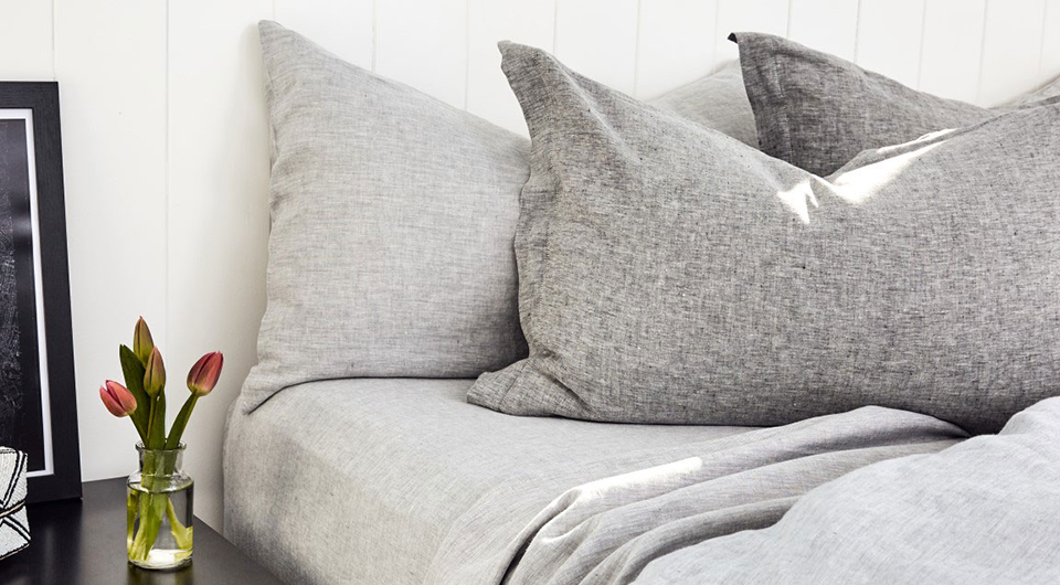 bemboka linen in dove and grey marl colours