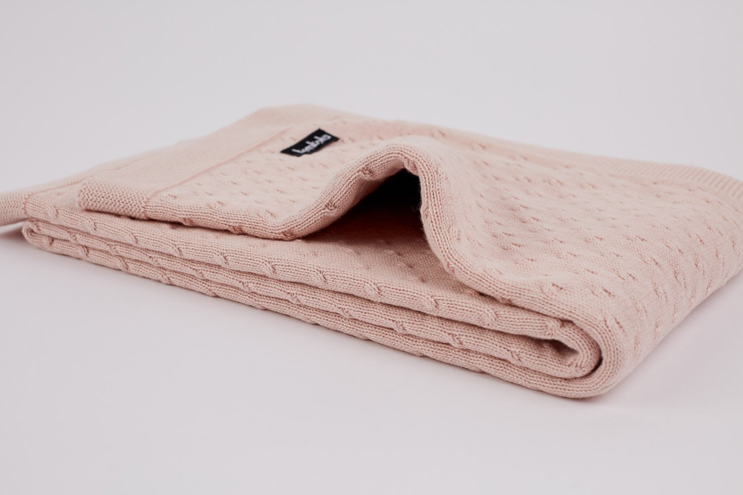 knot knit in blush colour