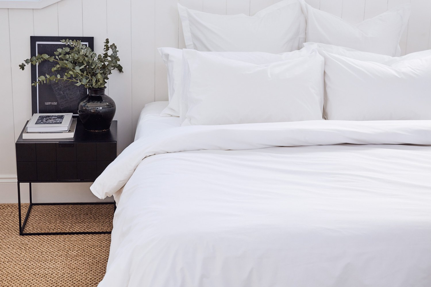 cotton percale sheets and quilt