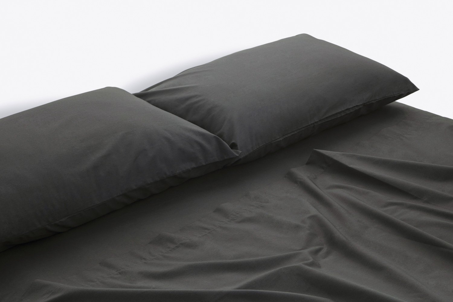 cotton percale sheeting in charcoal colour