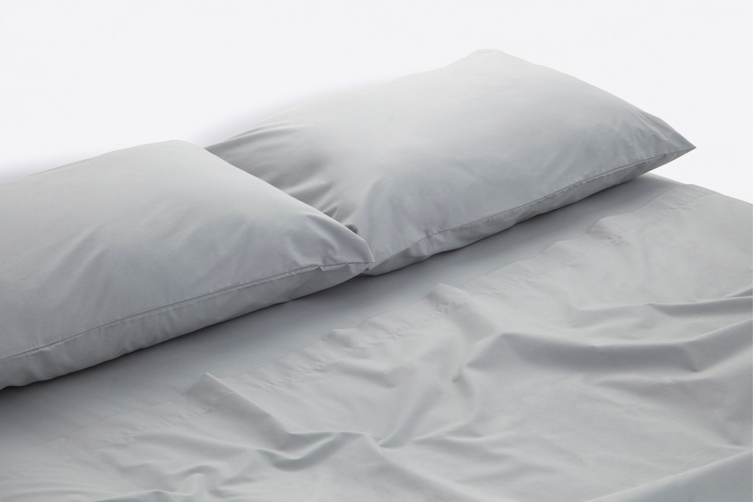 cotton percale sheeting in dove colour