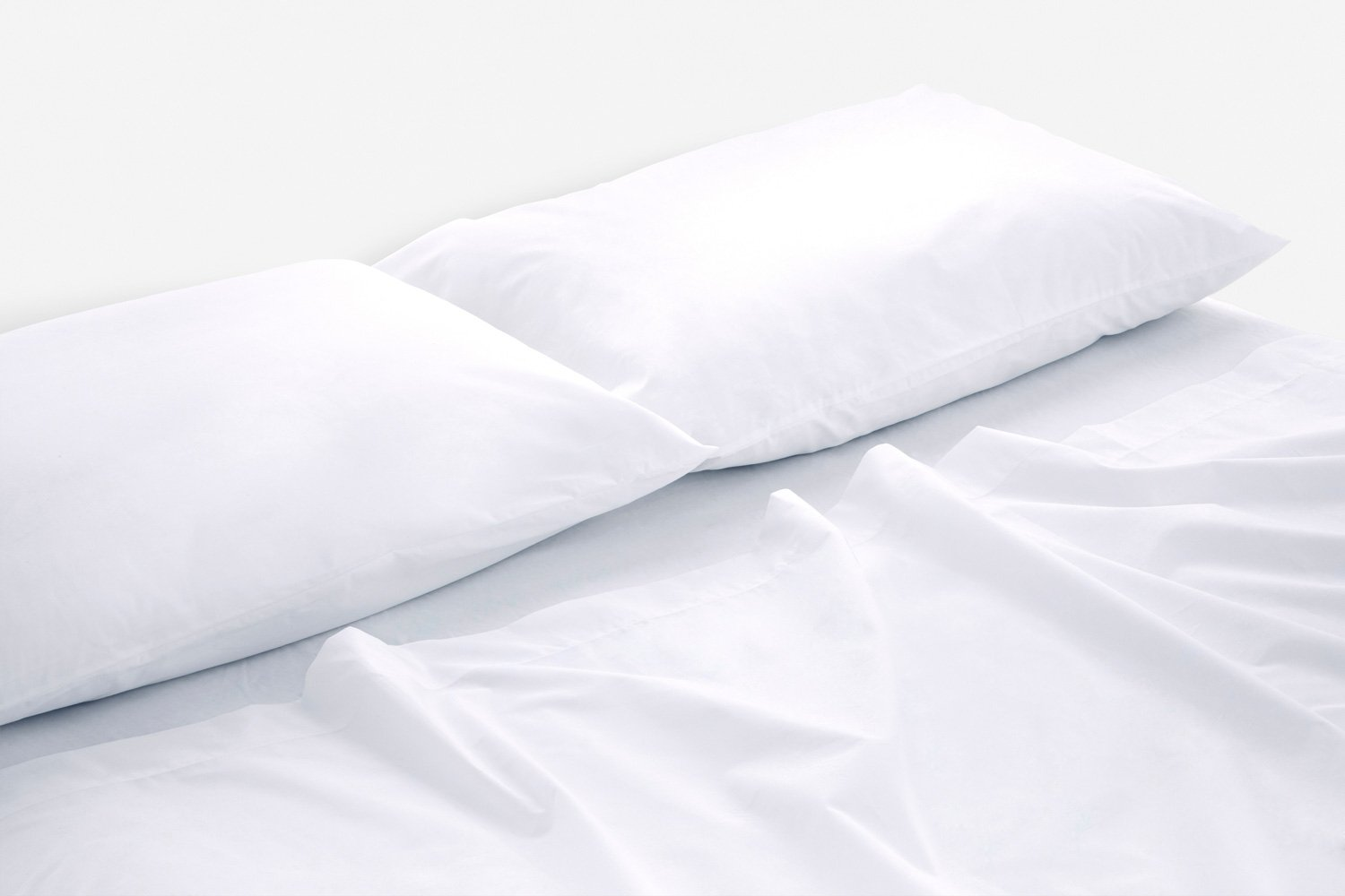 cotton percale sheeting in white colour