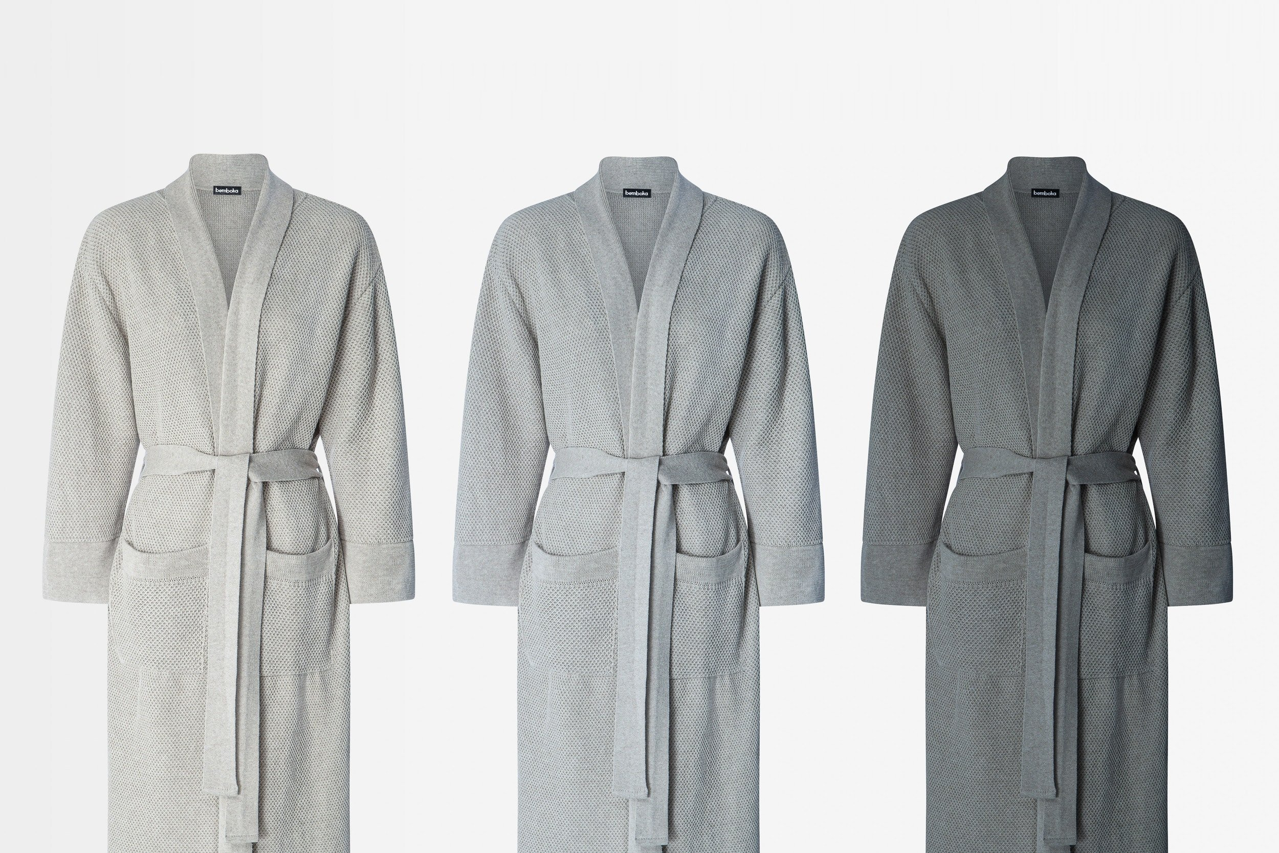 knitted cotton bathrobes
