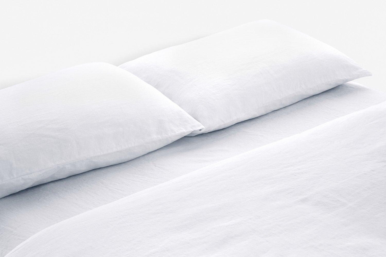 linen duvet cover in white colour