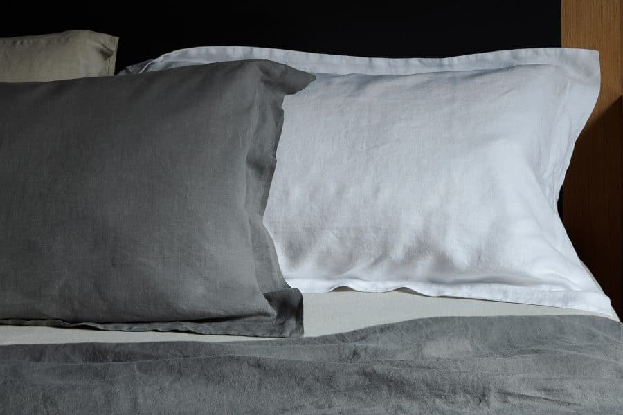 linen tailored pillow cases