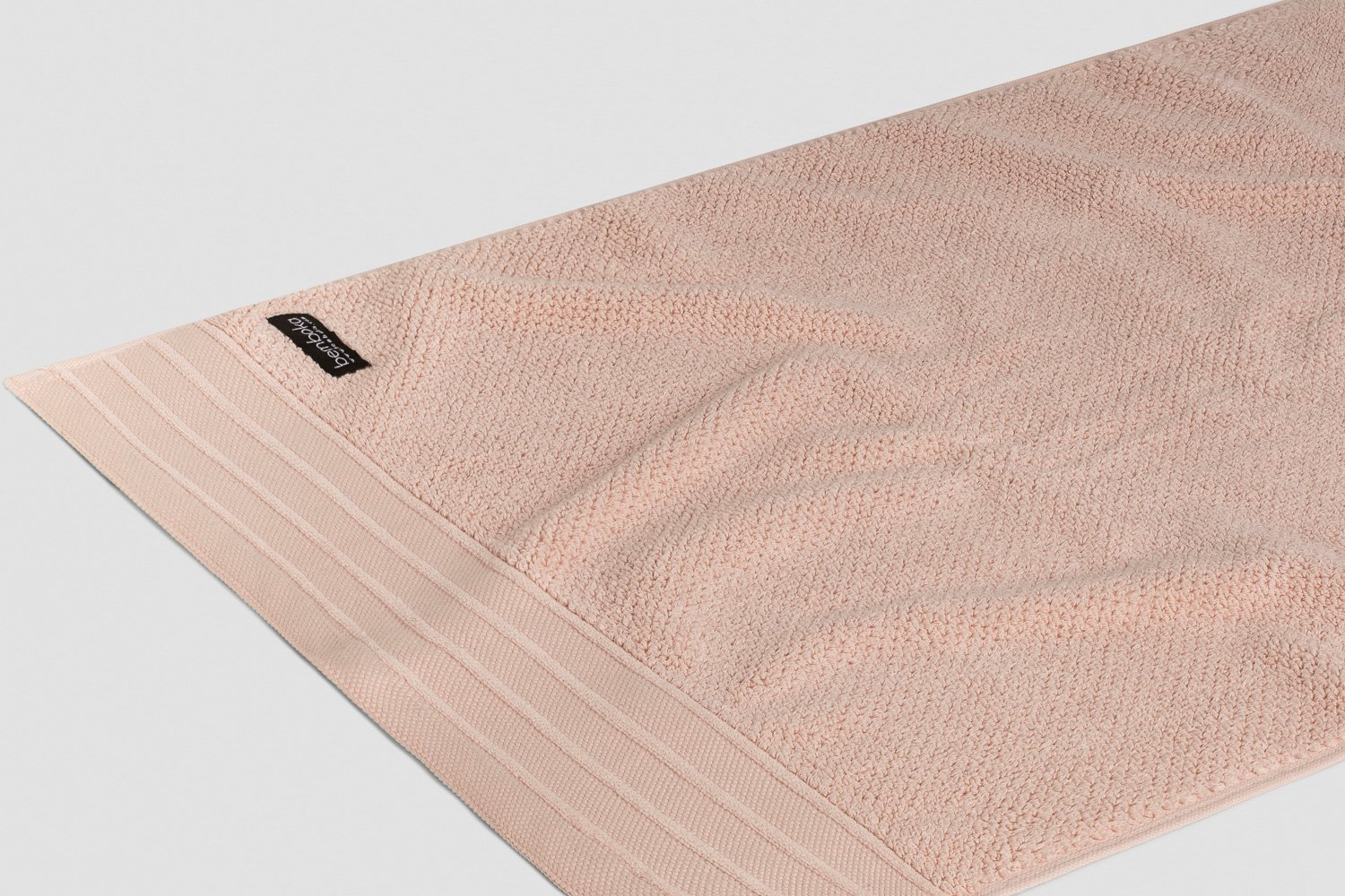 jacquard hand towels in blush colour