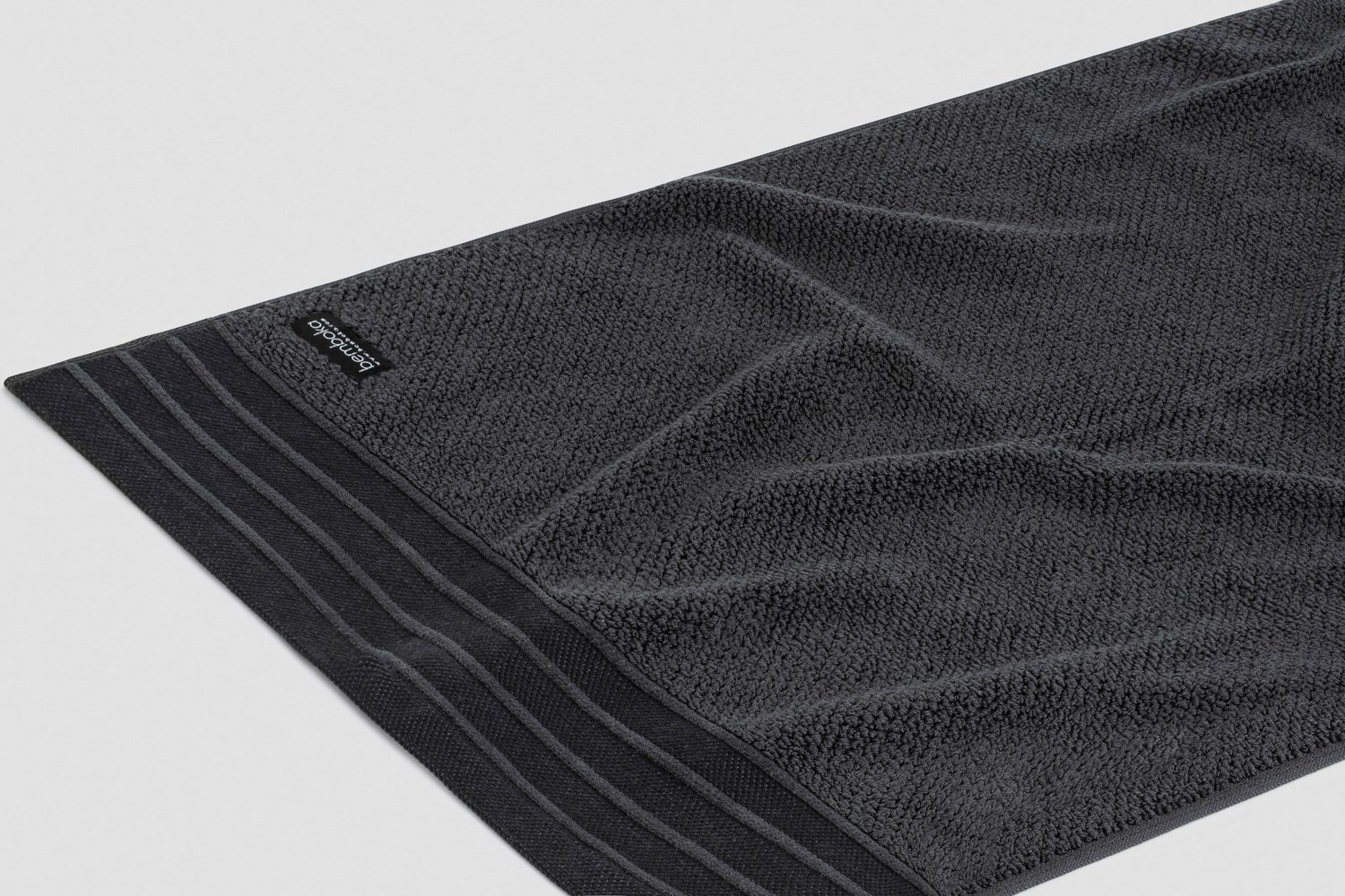 jacquard-hand towels in charcoal colour