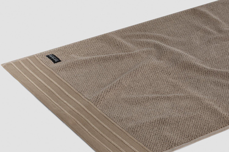 jacquard-hand towels in mocha colour