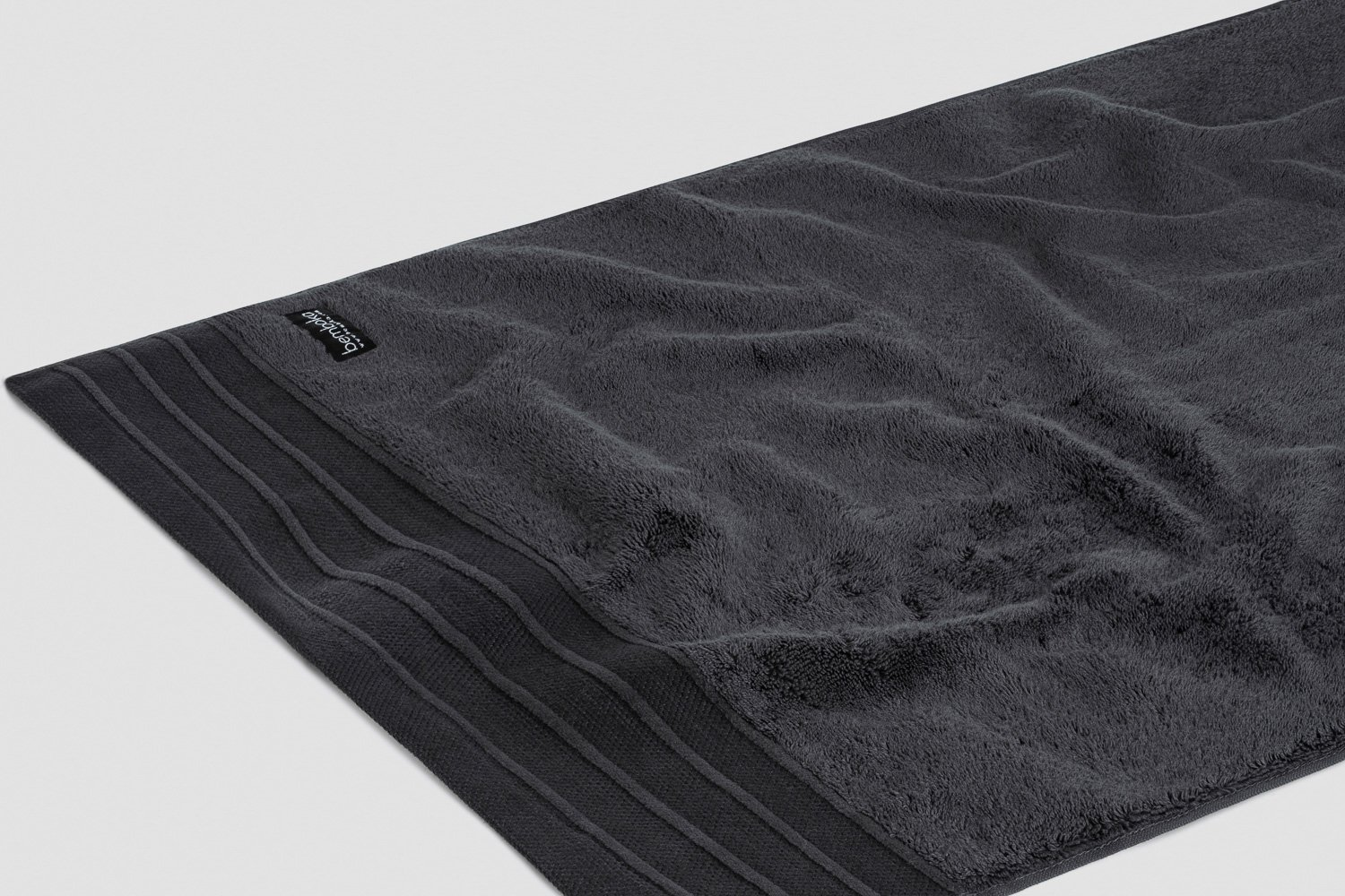 luxe hand towels in charcoal colour