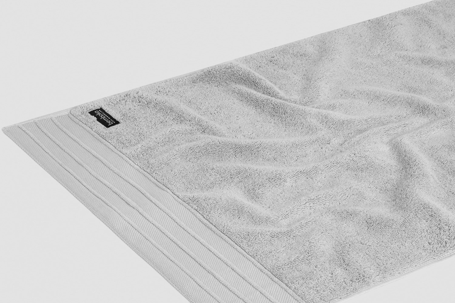 luxe hand towels in dove colour
