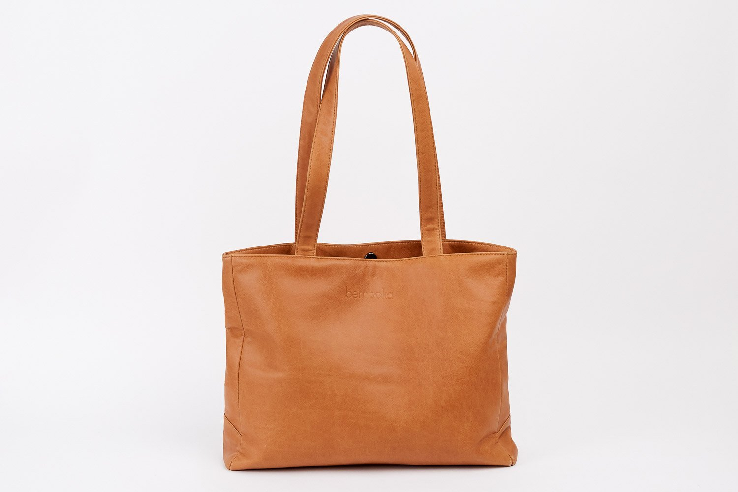 boralo tote in tan italian leather