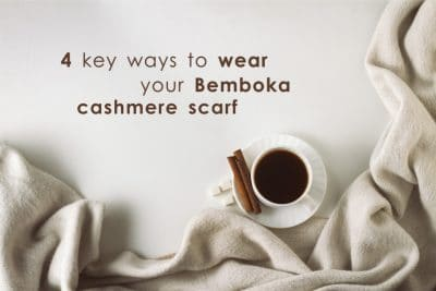 cashmere scarf how to wear it