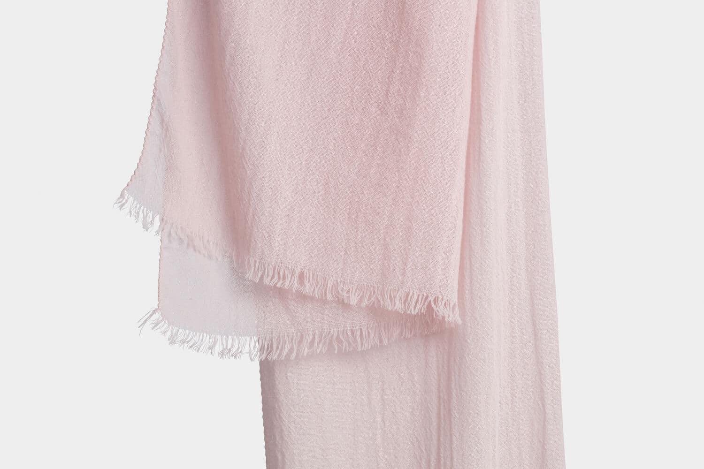 italian cashmere scarf in blush