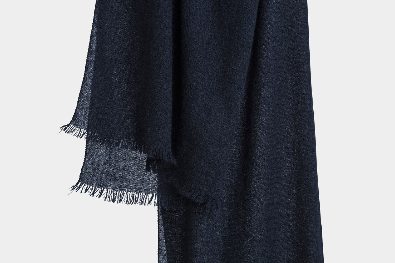 italian cashmere scarf in ink