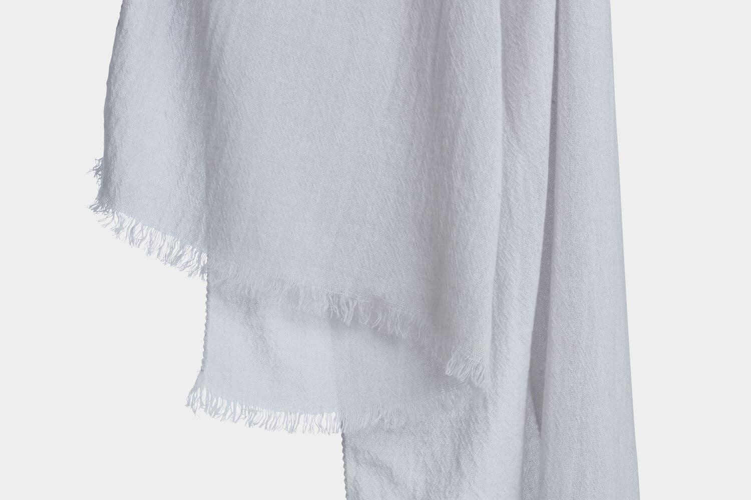 italian cashmere scarf in oyster