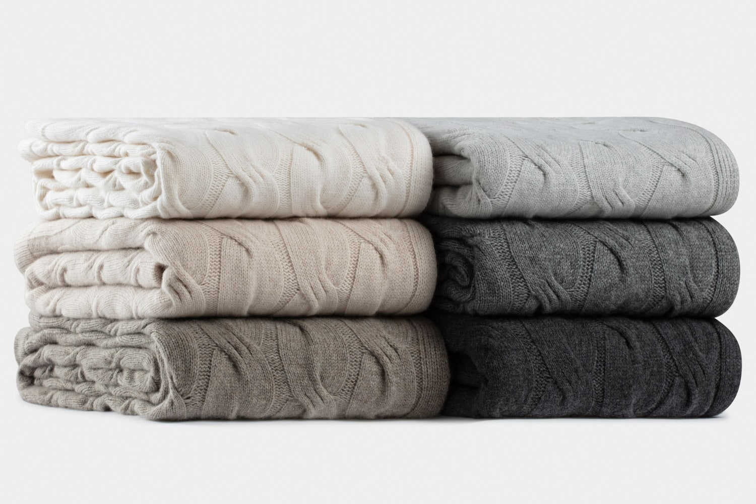 italian cashmere chunky cable throws