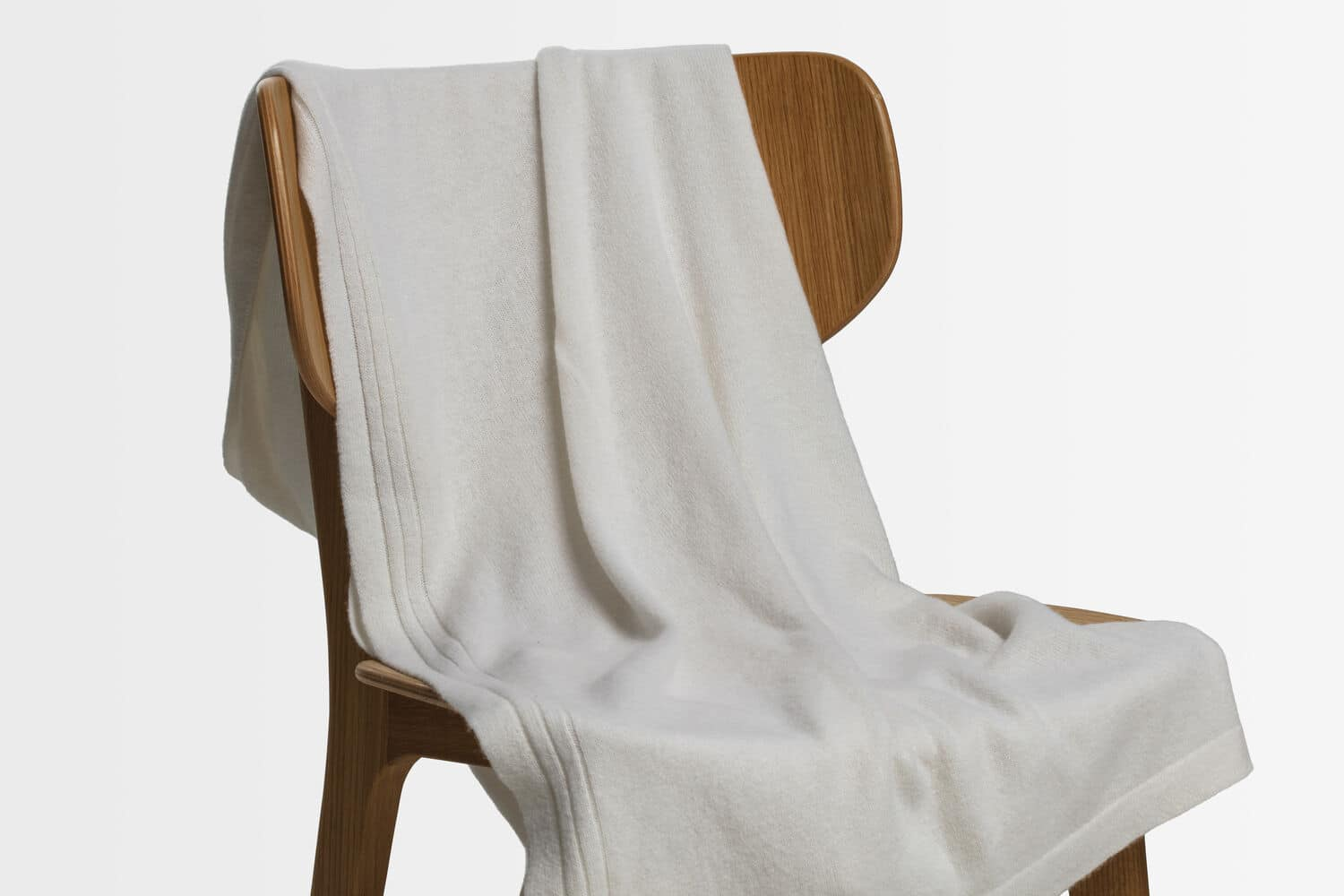 italian cashmere jersey throw in natural