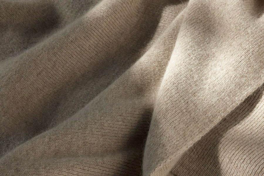 fine rib knit in wheat colour