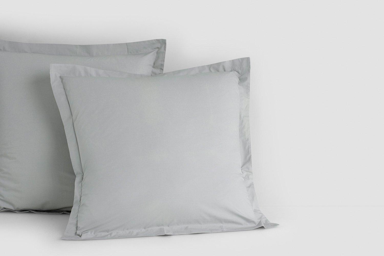 cotton percale euro pillow cases in dove