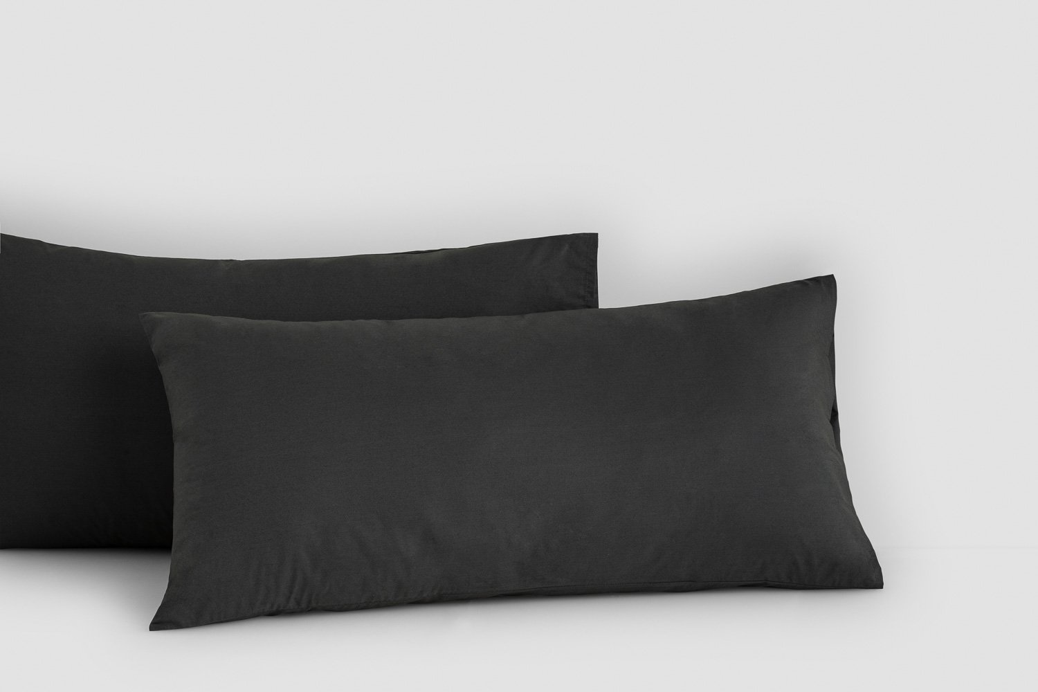 cotton percale king pillow cases in charcoal