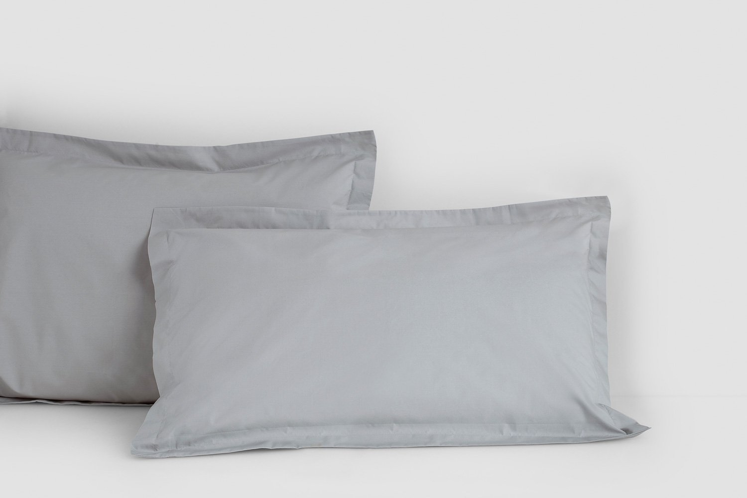 cotton percale tailored pillow cases in dove