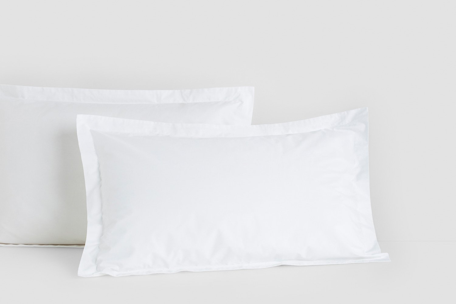 cotton percale tailored pillow cases in white