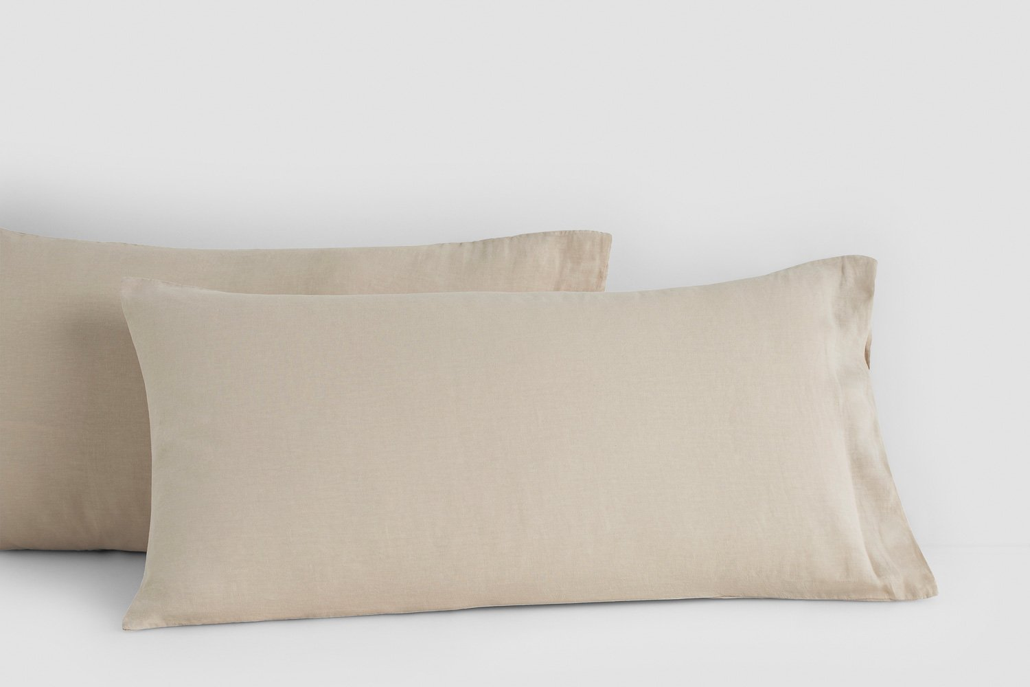 linen king pillow cases in stone