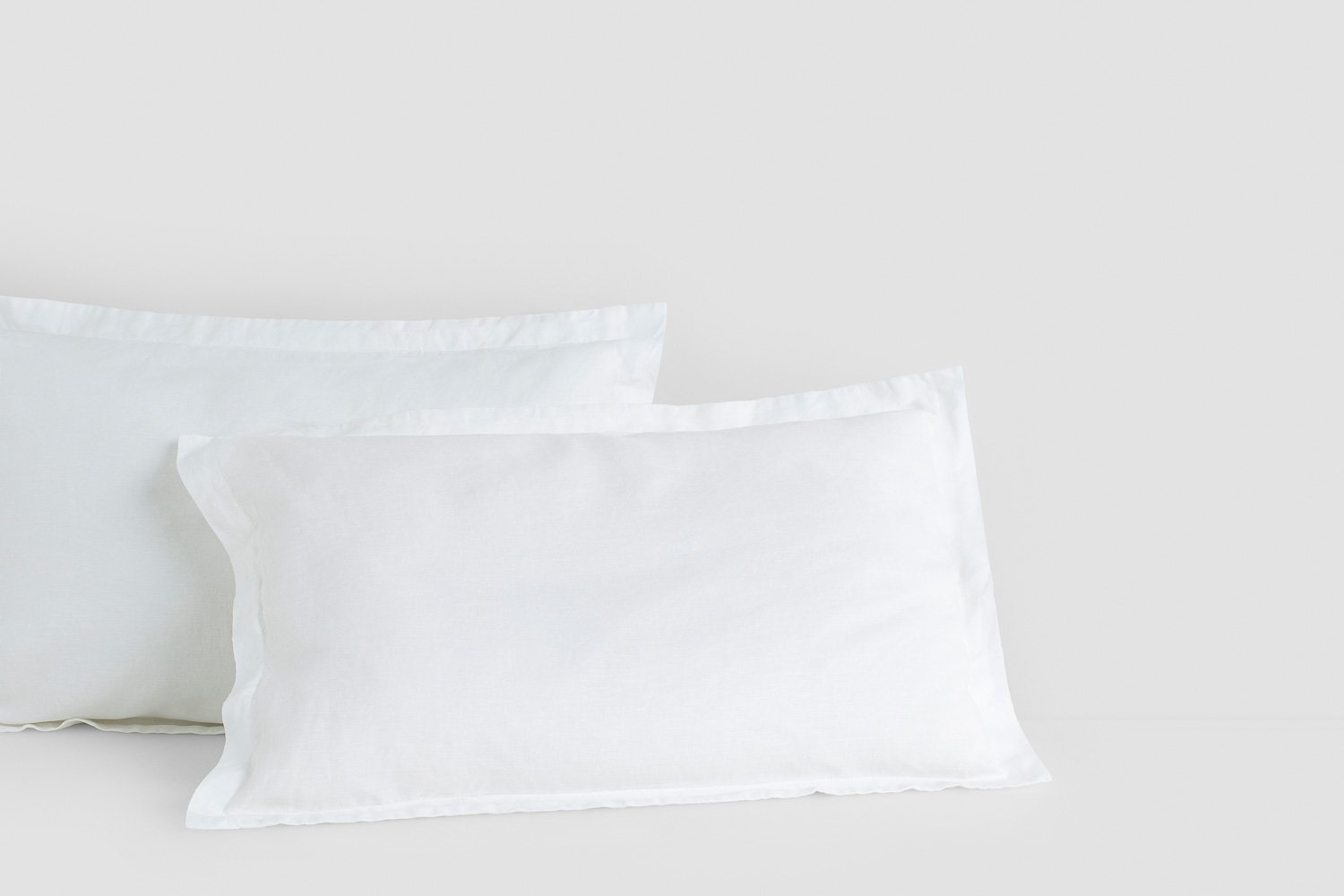 linen tailored pillow cases in white