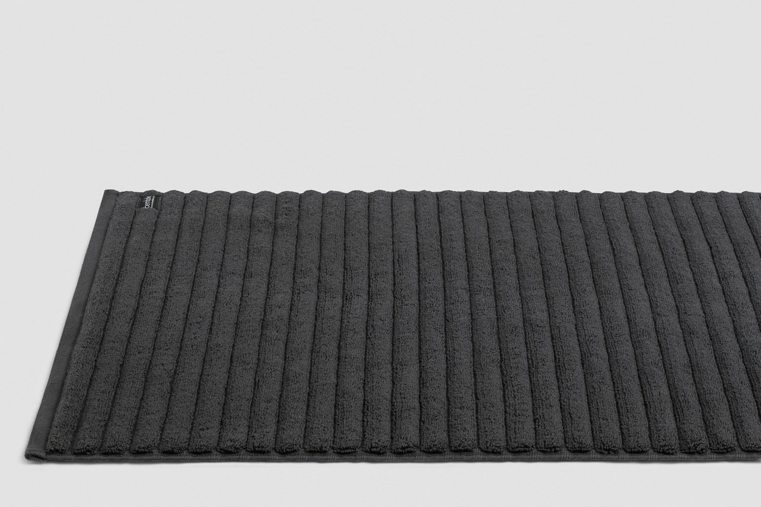 luxury turkish bath mats in charcoal colour
