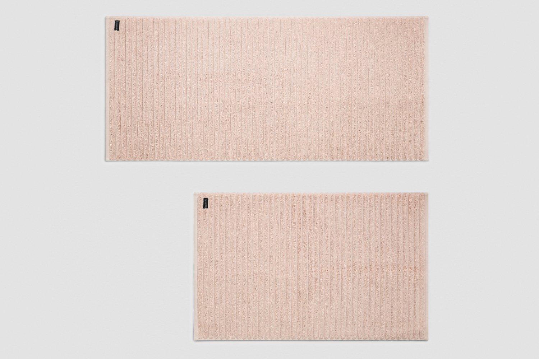 luxury turkish bath mats in blush - sizes