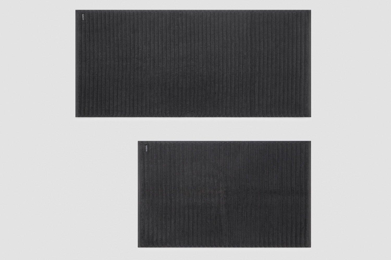 luxury turkish bath mats in charcoal - sizes